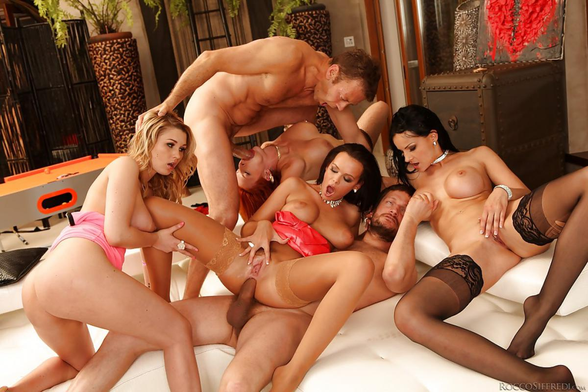 Hot very large group sex porn